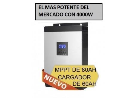 inversor hibrido 5000 24v + monitorización wifi