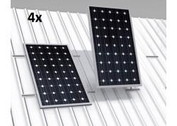 estructura coplanar 4 paneles solares low cost
