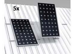 estructura coplanar 5 paneles solares low cost
