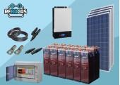 Kit Solar Aislada 20 3300/6600 Wh/día OPZS sin Conexión a Red
