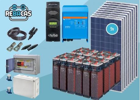 kit solar con baterías victron 5000w