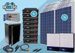 kit solar 36 kwh día con batería de litio 28pylonteh