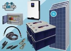 kit solar 30000w con batería de gel