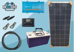 kit solar económico tv e iluminación