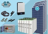Kit Solar Aislada 14 3300|6600 Wh día TOPZS translúcida
