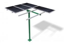 Estructura poste hasta 6 paneles regulable (30-45º)