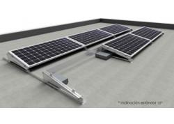 Estructura 2 paneles solares inclinada lastrada 10-15º