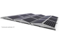 Estructura 2 paneles solares inclinada lastrada 10-15º este-oeste