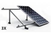 Estructura 3 paneles solares cubierta metálica