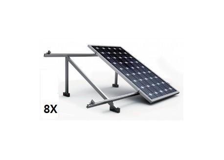 Estructura 8 paneles solares cubierta metálica