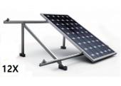 Estructura 12 paneles solares cubierta metálica