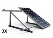 Estructura 3 paneles solares cubierta teja