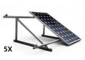 Estructura 5 paneles solares cubierta teja