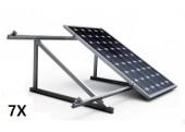 Estructura 7 paneles solares cubierta teja