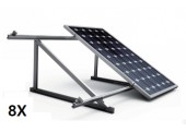 Estructura 8 paneles solares cubierta teja