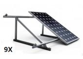 Estructura 9 paneles solares cubierta teja