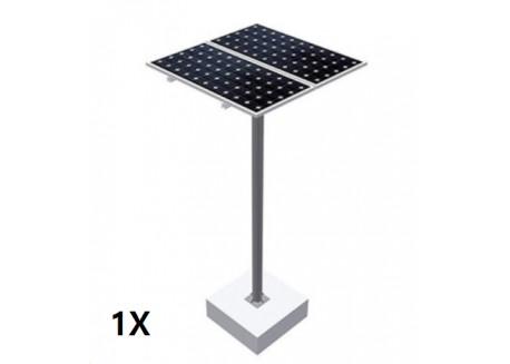 Estructura tipo poste 1 panel solar