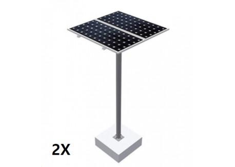 Estructura tipo poste 2 paneles solares