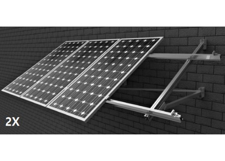 Estructura 2 paneles solares pared