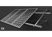 Estructura 5 paneles solares pared