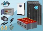 Kit Solar Aislada 6 4500|9000 Wh día Tubular