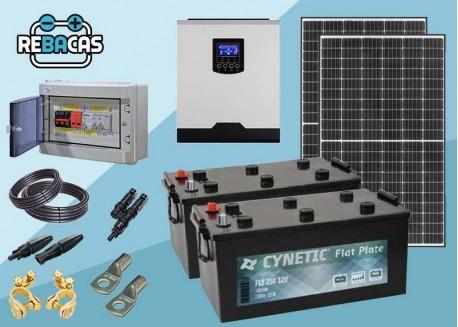Kit Solar Aislada 2 2000|4000 Wh/día