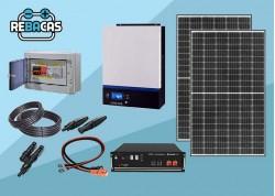 kit solar 5kwh día con batería de litio 3,55kwh