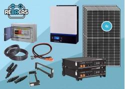 kit solar con batería de litio barato 10kwh