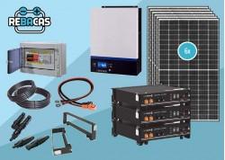 kit solar 15kwh día con batería de litio 7,2 pylonteh