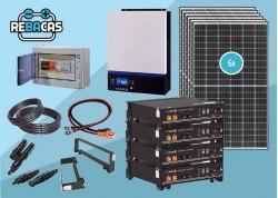 kit solar 15kwh día con batería de litio 9,6 pylonteh