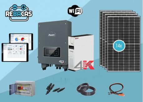 Nuevo Kit Solar Autoconsumo 28 kWh/día 6kw Hibrido Weco