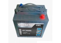 Batería de gel 6v 260Ah Cynetic
