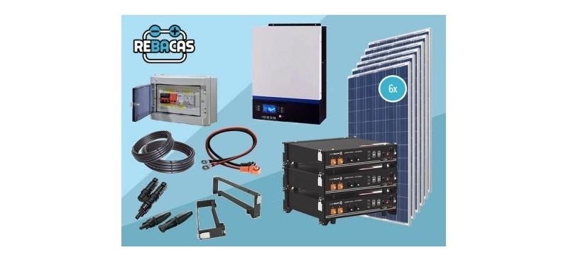 kits solares con bateria de litio asequibles