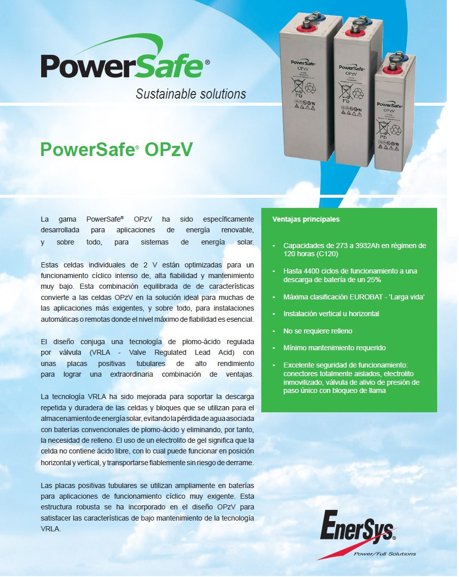bateria de gel 7 opzv 490 /nº1 en duracion