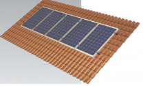 estructura placas solares coplanar