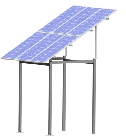 estructura poste paneles solares