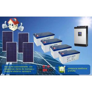 kits solares con baterias de gel